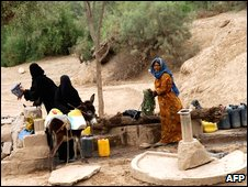 Yemeni women at a well south of Sanaa (file image)
