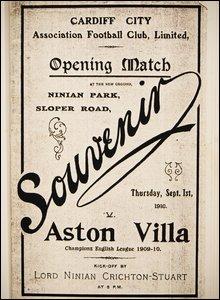 The programme for Cardiff City v Aston Villa