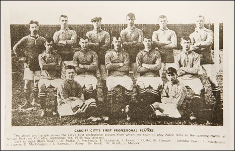 Cardiff's City's first squad of professional players