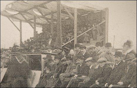 Ninian Park's first Grandstand held 200 spectators