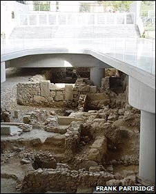 Part of the urban settleman found during the construction of the New Acropolis Museum