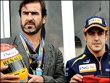 Eric Cantona and Fernando Alonso