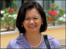 Opposition MP Mu Sochua in Phnom Penh