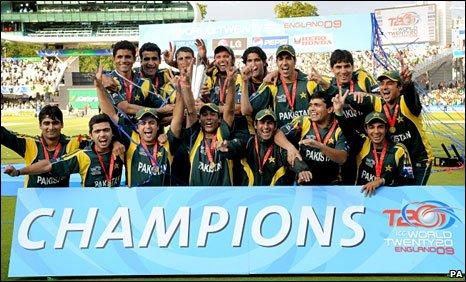 Pakistan celebrate victory