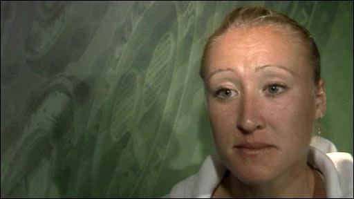 British tennis player Elena Baltacha