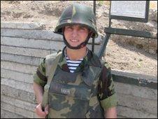 Junior sergeant Lernik Gasparyan