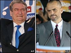 Sali Berisha (left) and Edi Rama (right) are front runners for the top job