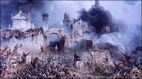Painting of the Battle of Solferino