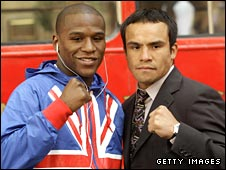 Floyd Mayweather Jr and Juan Manuel Marquez