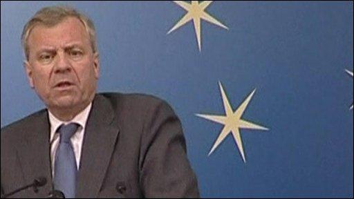 Nato secretary-general , Jaap de Hoop Scheffer