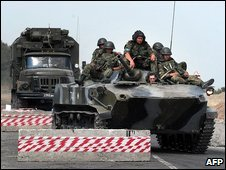 Russian troops during Georgian conflict, August 2008
