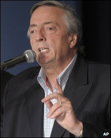 Former Argentine President Nestor Kirchner