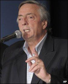 Former Argentine President Nestor Kirchner