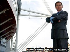 Welsh Rugby Union group chief executive Roger Lewis at the Millennium Stadium