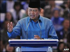 President Susilo Bambang Yudhoyono campaign for re-election - 4/6/2009