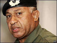 Fiji's military commander Frank Bainimarama (December 2006)
