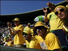 Lleyton Hewitt's supporters - the Fanatics
