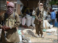 Rebel fighters in Mogadishu 29.6.09