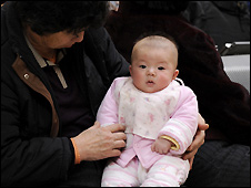Chinese baby - file photo
