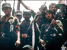 File photo of Nicaraguan Sandinista rebels in 1979