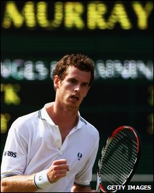 Andy Murray in Wimbledon semi-final 2009