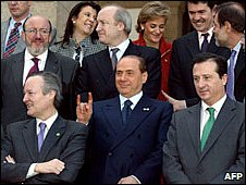 foreign minister in an EU photo of 2002