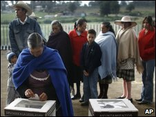 People vote during elections in Mexico City, Sunday, July 5, 2009