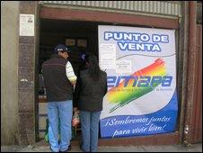 State run shop in Bolivia