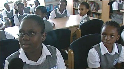 Pupils at the Merton Montessori School in Accra