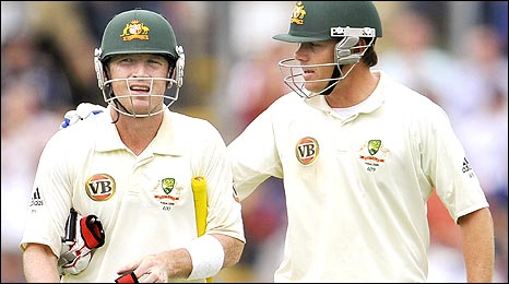 Brad Haddin (left) and Marcus North