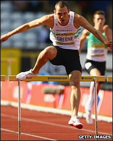 David Greene in action at the British Athletics Championships in Birmingham