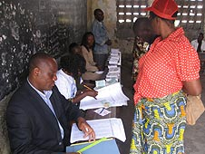A polling station in the Republic of Congo (12 July 2009)
