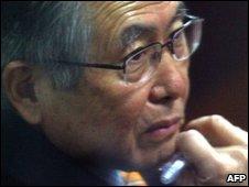 Alberto Fujimori in a file photo from 2008