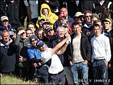 2008 champion Padraig Harrington in action at Royal Birkdale