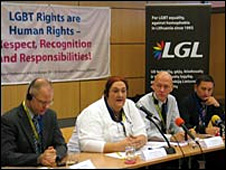 Gay rights conference in Vilnius (2007)