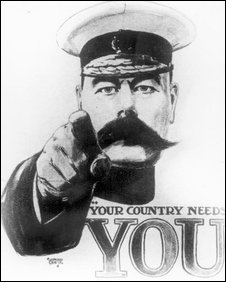 Lrd Kitchener's WW1 recruitment poster