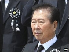 Kim Dae-jung attended the funeral of former President Roh Moo-hyun in a wheelchair - 29 May 2009