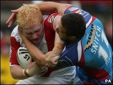 Steve Snitch tries to stop James Graham