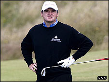 Paul Lawrie at Turnberry on Sunday