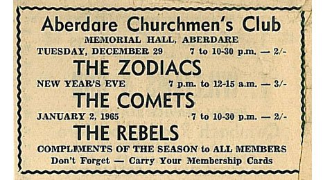 Advert for the Zodiacs 1964