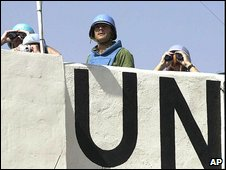 UN peacekeepers in Lebanon (file photo)