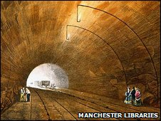 Wapping Tunnel in Liverpool in 1830