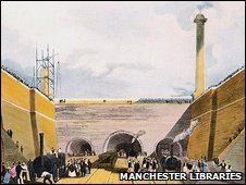 Edge Hill Station in Liverpool in 1830