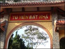 Bat Nha monastery sign