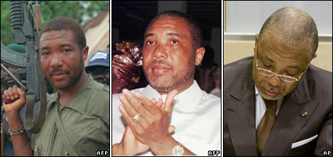 Charles Taylor in 1990, 1997 and 2009