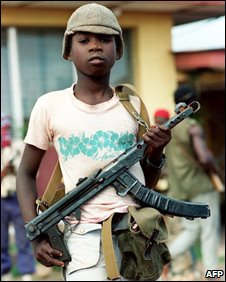 A child soldier in Charles Taylor's army, 1990