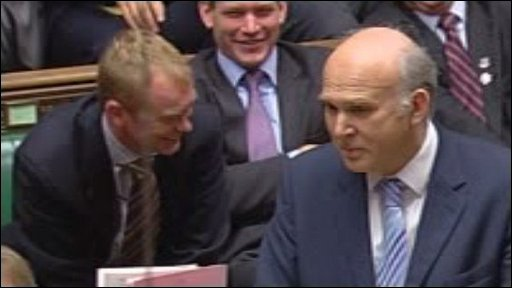 Vince Cable at Prime Minister&amp;apos;s Questions