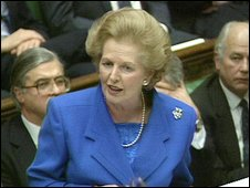 Mrs Thatcher in the Commons