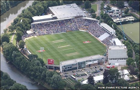 The first Ashes Test at the Swalec Stadium, Cardiff