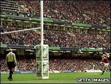 Neil Jenkins breaks the world points record in the 1999 World Cup game